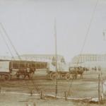 Carri della compagnia di Buffalo Bill in piazza d'Armi