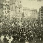 Inaugurazione del monumento a Giordano Bruno in piazza Campo dei Fiori