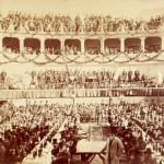 Banchetto in onore di Giuseppe Garibaldi all'anfiteatro Corea