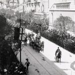 Via Nazionale addobbata per la visita di Edoardo VII a Roma