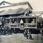 Pio IX affacciato dal treno papale alla stazione di Velletri