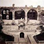 La basilica di Massenzio dagli Orti Farnesiani