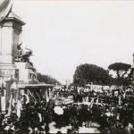 Inaugurazione del monumento a Giuseppe Garibaldi sul piazzale del Gianicolo
